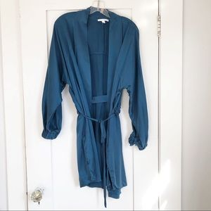 Lunya Blue Washable Silk Robe